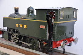 side2 view 1101 Class GWR live steam dock tank 040 loco for sale