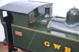 window view 1101 Class GWR live steam dock tank 040 loco for sale