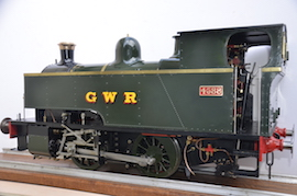 left view 1101 Class GWR live steam dock tank 040 loco for sale