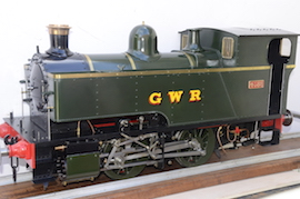 side view 1101 Class GWR live steam dock tank 040 loco for sale