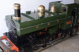 "main view 1366 GWR 7.25"" gauge live steam 060 pannier tank loco for sale"
