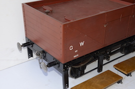"front2 view 1366 GWR 7.25"" gauge live steam 060 pannier tank loco for sale"