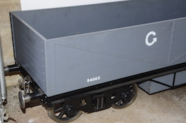 "end view GWR 7.25"" gauge live steam passenger wagons for sale"