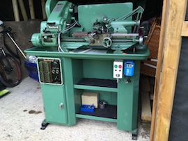 Myford Super 7B lathe for sale gearbox power cross feed main view