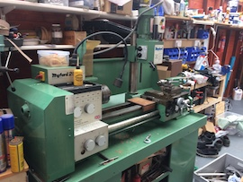 right view Myford 254S 254 lathe VMA milling head for sale