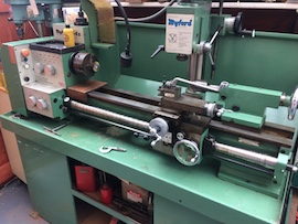 main view Myford 254S 254 lathe VMA milling head for sale
