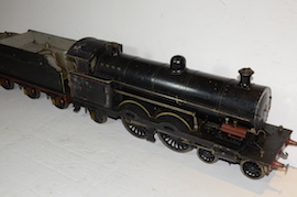 main view Antique vintage 1928 3.5 live steam loco locomotive  LNWR Atlantic 442 Bowen Cook George Whale for sale