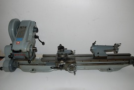 left view Myford long bed Super 7 ML7 ML7R lathe for sale KRL139192