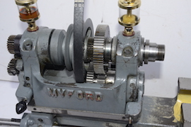 Myford ML7 reground Myford nottingham refurbished lathe for sale head view