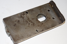 Myford ML8 lathe base plate for crossslide for sale back view