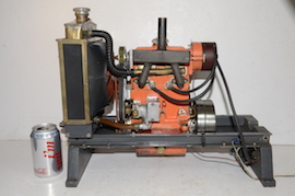 main view Petrol twin cylinder model IC engine with radiator for sale