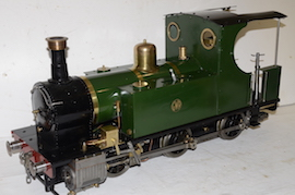 "5"" Polly 3 live steam 0-6-0 Tank loco for sale"