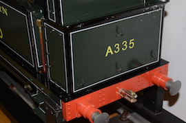 "back view Southern 335 R1 class SE & CR 5"" 0-6-0 live steam tank loco Maxitrak for sale"
