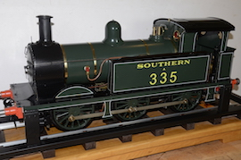 "left view Southern 335 R1 class SE & CR 5"" 0-6-0 live steam tank loco Maxitrak for sale"