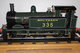 "display view Southern 335 R1 class SE & CR 5"" 0-6-0 live steam tank loco Maxitrak for sale"