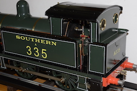 "cab view Southern 335 R1 class SE & CR 5"" 0-6-0 live steam tank loco Maxitrak for sale"