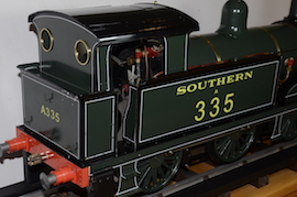 "cab2 view Southern 335 R1 class SE & CR 5"" 0-6-0 live steam tank loco Maxitrak for sale"
