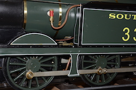 "side view Southern 335 R1 class SE & CR 5"" 0-6-0 live steam tank loco Maxitrak for sale"