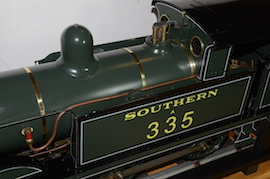 "tank view Southern 335 R1 class SE & CR 5"" 0-6-0 live steam tank loco Maxitrak for sale"