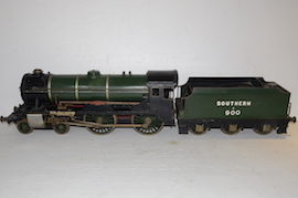 "main view Vintage vintage 3.5"" live steam loco locomotive  LBSC Roedean Schools 4-4-0 for sale"