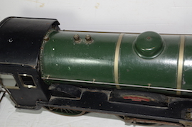 "top view Vintage vintage 3.5"" live steam loco locomotive  LBSC Roedean Schools 4-4-0 for sale"