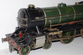 "front view Vintage vintage 3.5"" live steam loco locomotive  LBSC Roedean Schools 4-4-0 for sale"