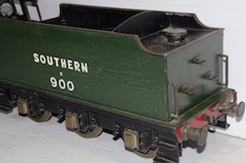 "tender view Vintage vintage 3.5"" live steam loco locomotive  LBSC Roedean Schools 4-4-0 for sale"