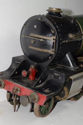 "smokebox view Vintage vintage 3.5"" live steam loco locomotive  LBSC Roedean Schools 4-4-0 for sale"