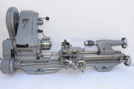 main view Myford Super 7 lathe for sale SK111347