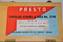 main view Presto BA Tap & Die set for sale