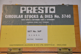 main view Presto Metric Tap & Die set for sale