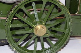 "wheel view Allchin 1.5"" live steam traction engine for sale"