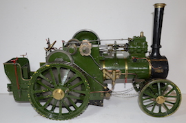 "right view Allchin 1.5"" live steam traction engine for sale"