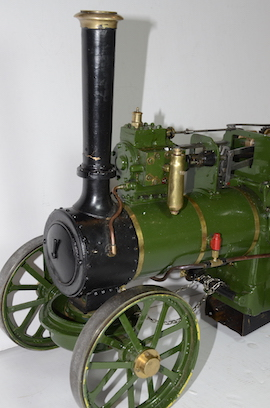 "chimney view Allchin 1.5"" live steam traction engine for sale"