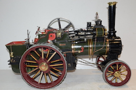 "front view Allchin 1.5"" live steam traction engine for sale"
