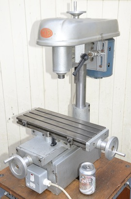 front view Amolco vertical milling machine for sale