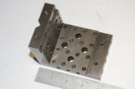 top view angle plate drilled & tapped for sale