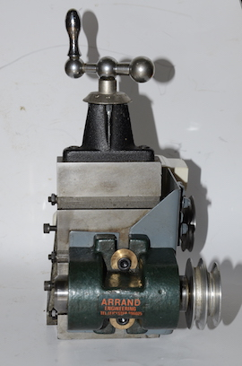 Arrand milling spindle on Myford milling slide. Wheel pinion cutting for sale.
