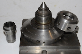 centre view ball turning & rotating collet for lathe or milling for sale