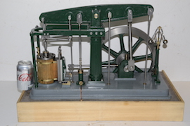 main view live steam large beam engine for sale