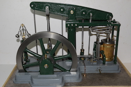back view live steam large beam engine for sale