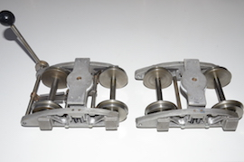 "main 3.5"" bogies braked for live steam loco wagon driver's truck for sale"