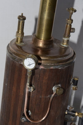 gauge view vertical boiler for live steam engine for sale