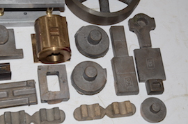 cylinder view Brunell side rod table live steam engine castings for sale