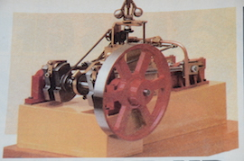 model view Brunell side rod table live steam engine castings for sale