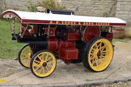 "2"" Burrell Showmans live steam traction engine for sale"