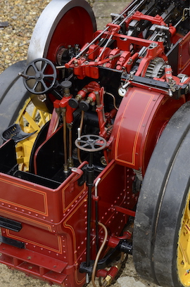 "rear view 2"" Burrell Showmans live steam traction engine for sale"
