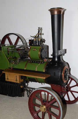 "front view Burrell 3"" live steam road traction engine for sale"