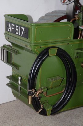 "rear view Burrell 3"" live steam road traction engine for sale"