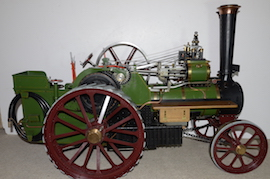 "right view Burrell 3"" live steam road traction engine for sale"